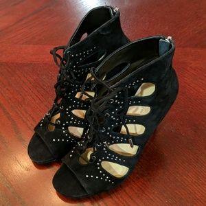 Ivanka Trump Dazy Black Suede Heels Size 9